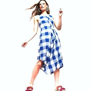 ANTHROPOLOGIE MAEVE Gingham Belted Dress